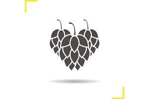 Hop cones glyph icon