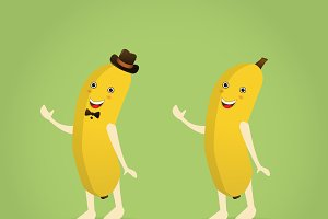 Cartoon banana character