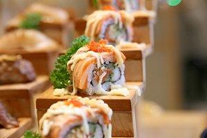 Sushi terraced
