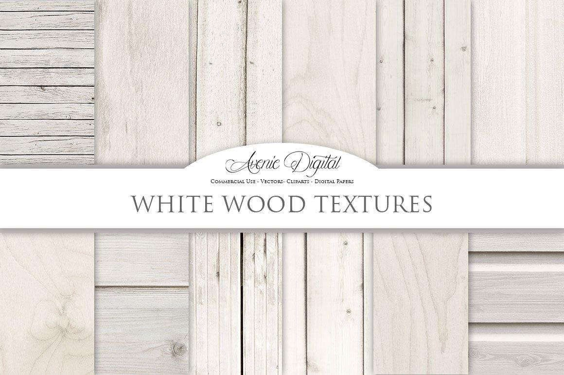 White Wood Digital Paper ~ Textures ~ Creative Market