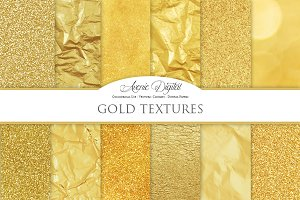 Gold Foil Textures - Golden Papers