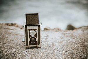 Old TLR camera