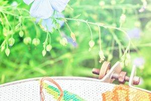 Flowers of linen