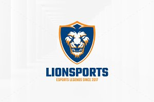 Lion Sports Logo Template