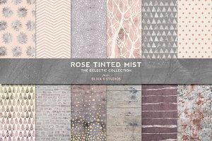 Rose Tinted Mist Gold & Silver Foils