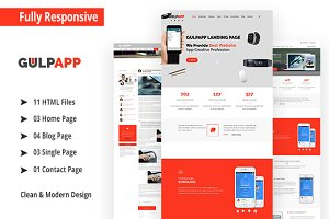 GulpApp - Responsive HTML5 Template