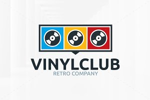 Vinyl Club Logo Template