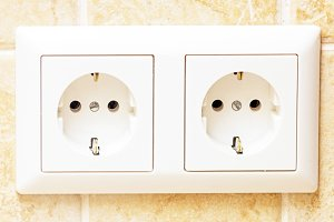 Two socket on wall