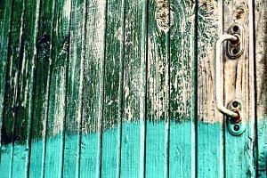 Old half-painted door