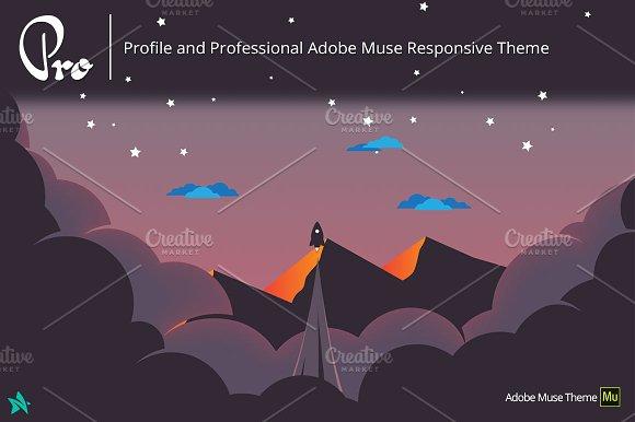 Pro Adobe Muse Portfolio Template