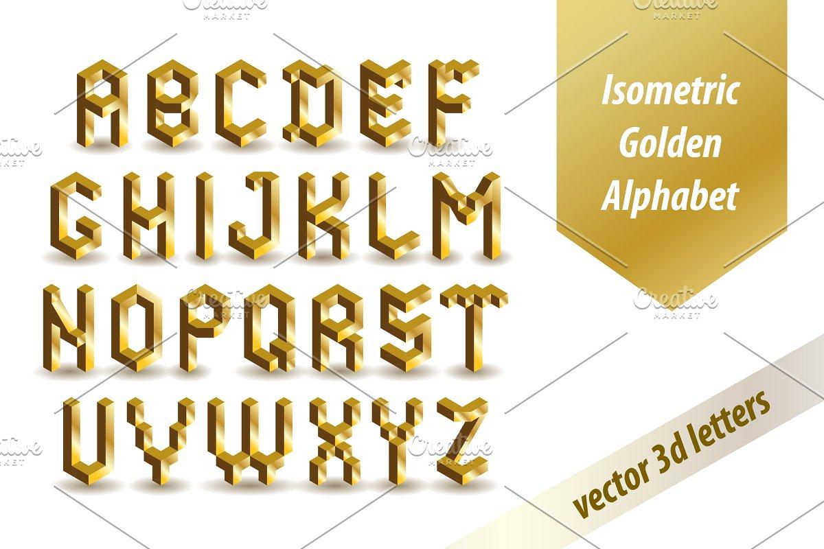 Isometric Golden Font