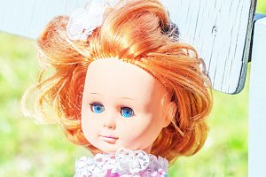 Doll with red hair