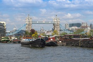 River Thames and Tower Bridge, London