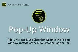 Pop-Up Window Adobe Muse Widget