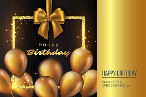 Luxury happy birthday design.