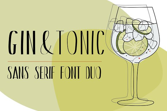 Gin Tonic Sans Serif Font Duo
