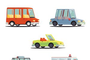 Cartoon Transport Car