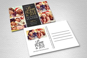 Christmas Card Template - Love Joy