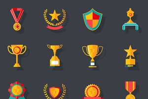 Awards Symbols and Trophy