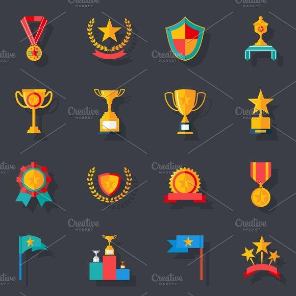 Awards Symbols And Trophy Icons Creative Market