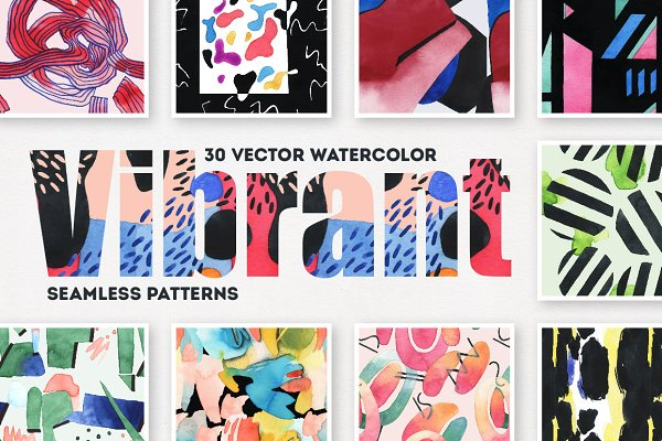 Vibrant Watercolor Patterns