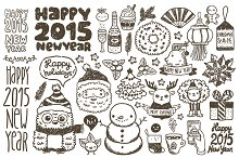 Happy New Year & Christmas sketches