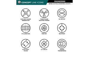 Concept line icons - engineering #2