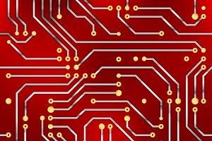 Сomputer microchip, seamless pattern