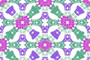Multicolor Ornate Check Seamless Pattern