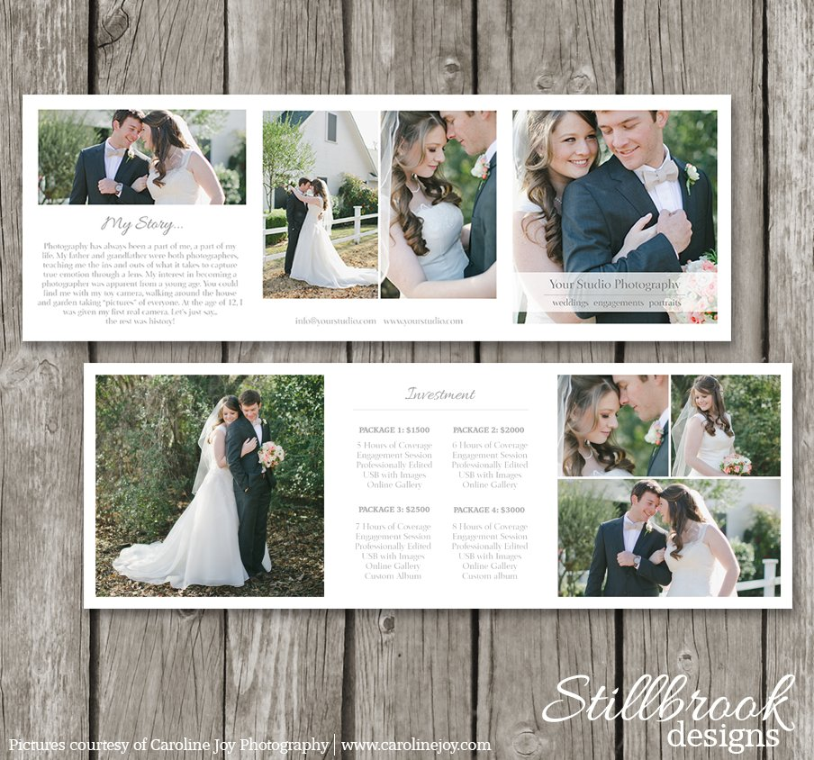 Photography Trifold Price Guide