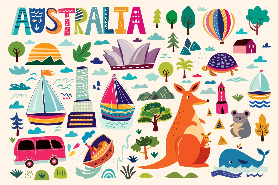 25 fully customizable city and landmark icon sets creative australian symbols biocorpaavc Choice Image