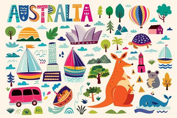 Australian Symbols Illustrations Creative Market