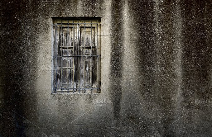 Grunge Wall With Window.jpg - Architecture