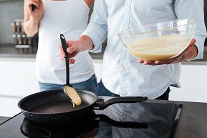 Good couple prepared pancake