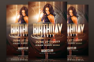 Birthday Party - Flyer Template