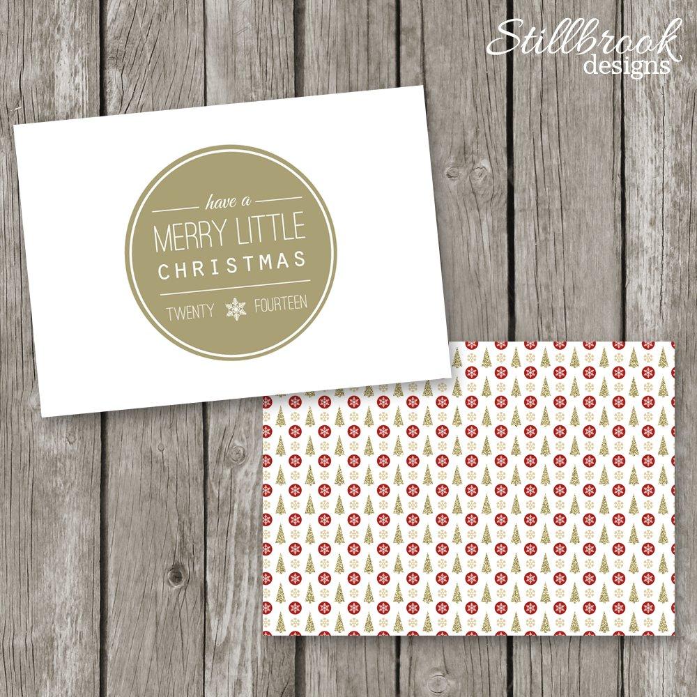 Holiday Card Template Christmas Card Card Templates Creative Market