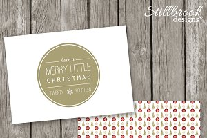 Holiday Card Template Christmas Card
