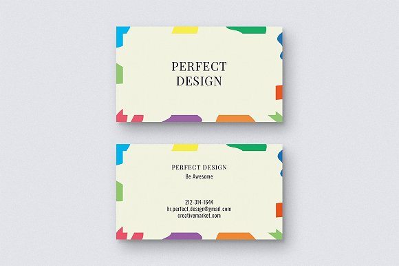 Colored Spots Business Card Template