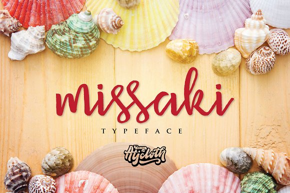 Missaki typeface 30 off script fonts creative market fandeluxe Image collections