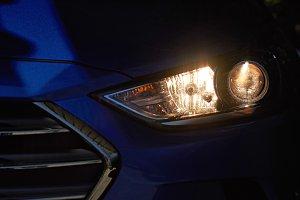 High light of modern car