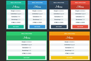 Pricing tables Bootstrap responsive
