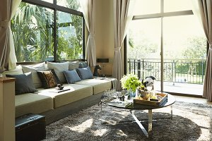 luxury living room interior with a Modern