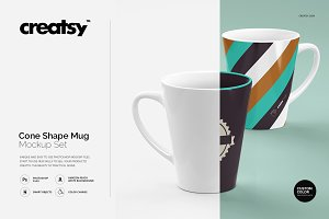 Cone Shape Mug Mockup Set