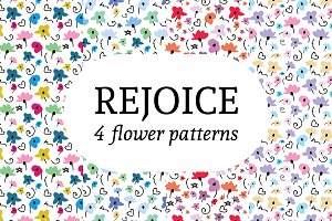 Rejoice - 4 Flower Patterns