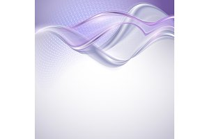 Abstract purple wave background