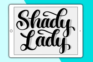 Shady Lady Procreate lettering brush