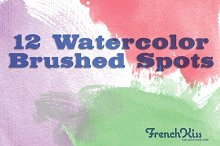 Watrcolor Textured Spot Brushes