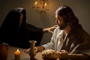 Last sena of jesus christ praying