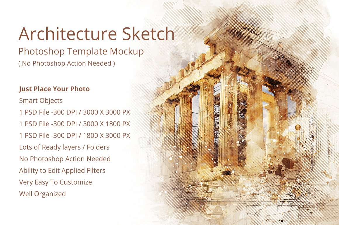Archi sketch photoshop mock ups