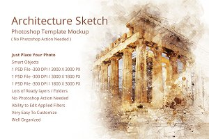 Archi Sketch Photoshop Mock-ups